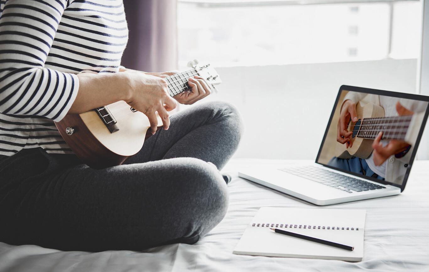 Online ukulele lessons Banner