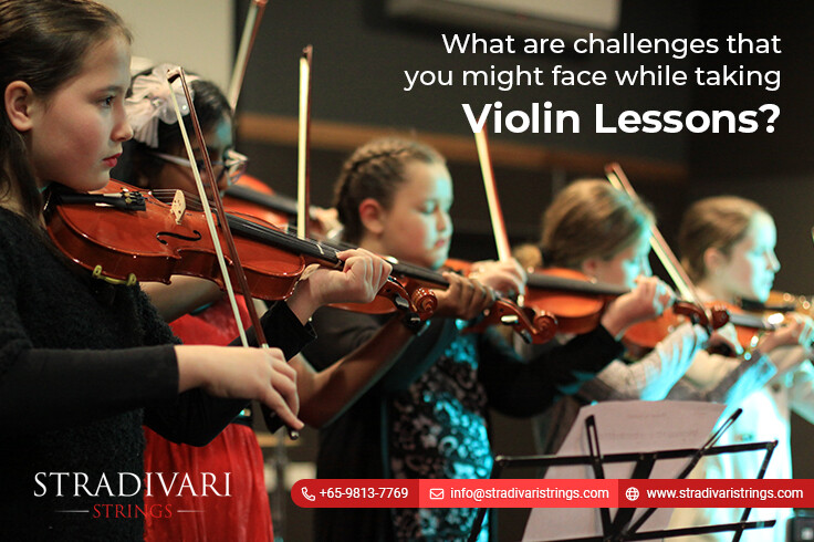 What are challenges that you might face while taking violin lessons?