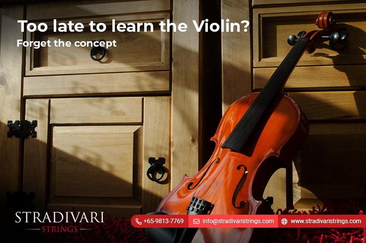Too late to learn the violin? Forget the concept